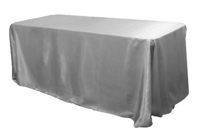 Where to find Tablecloth 90 x156  - Silver Satin in Grand Cayman