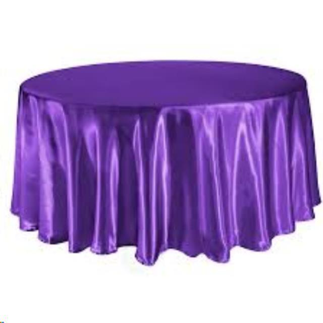Where to find Tablecloth 120  RND - Purple Satin in Grand Cayman
