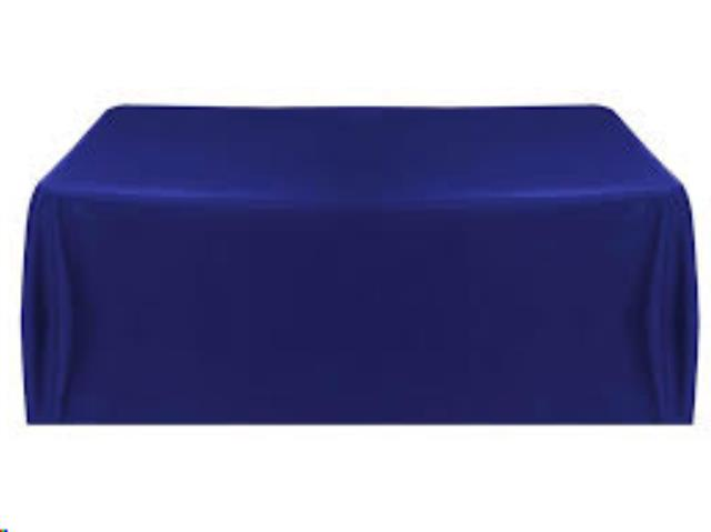 Where to find 90X130 Overlay Royal Blue polyester in Grand Cayman