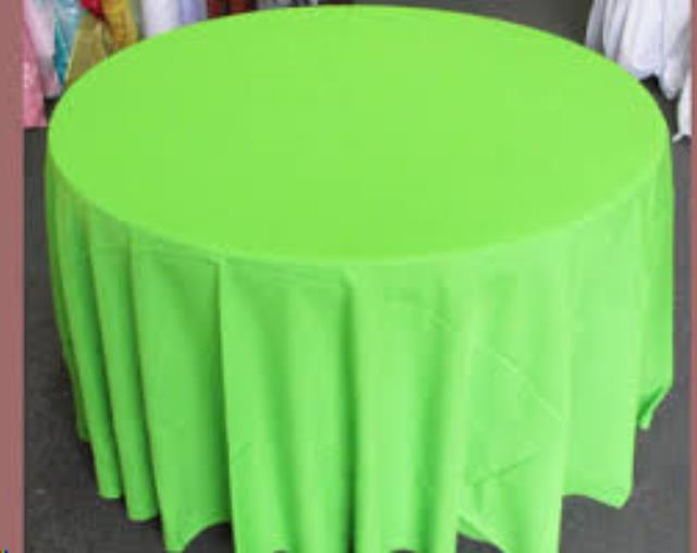 Where to find Tablecloth 132  RND - Lime Green poly in Grand Cayman