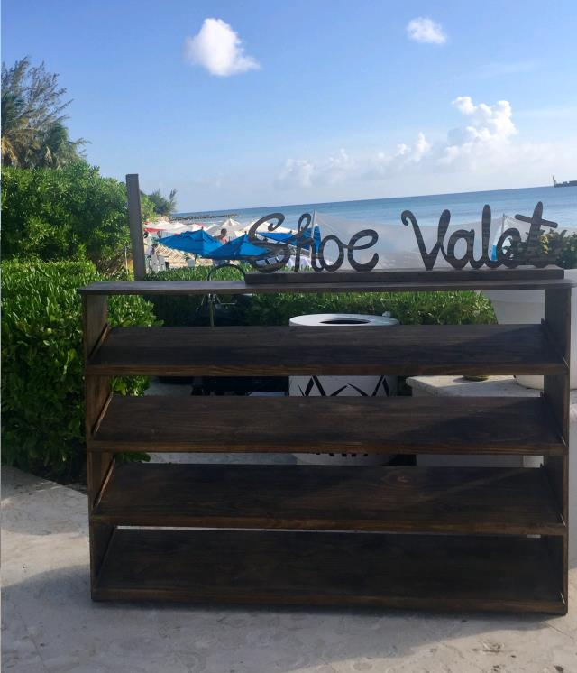 Where to find Shoe Rack Brown Modern Rustic in Grand Cayman