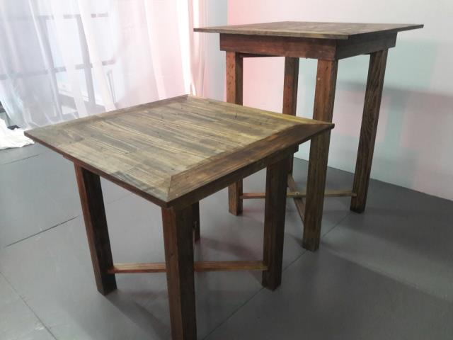 Where to find 30  Square Cocktail Table Rustic - Wood in Grand Cayman