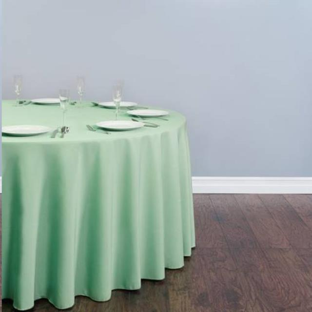 Where to find Tablecloth 132  RND - Mint Lamour in Grand Cayman