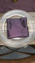 Rental store for 20 x20  Napkin - Plum Satin in Grand Cayman KY