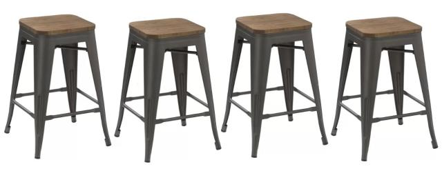 Where to find Bar Stool - Gunmetal Wood Top in Grand Cayman