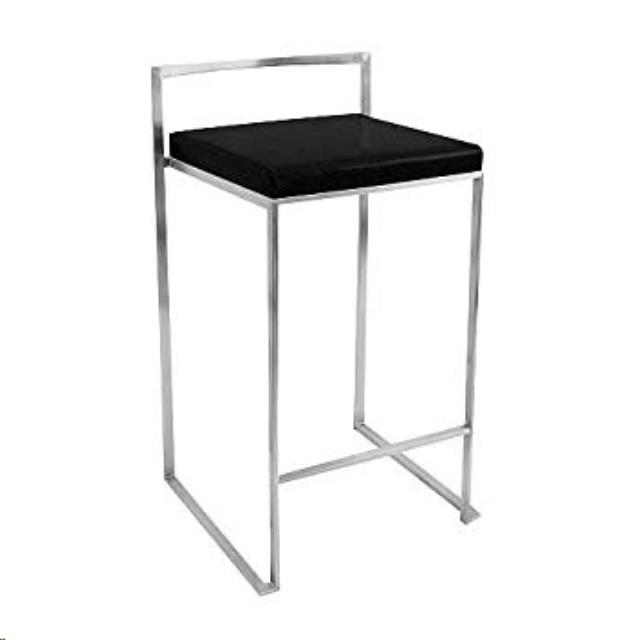 Where to find Bar Stool- Low Back Silver Black Cushion in Grand Cayman