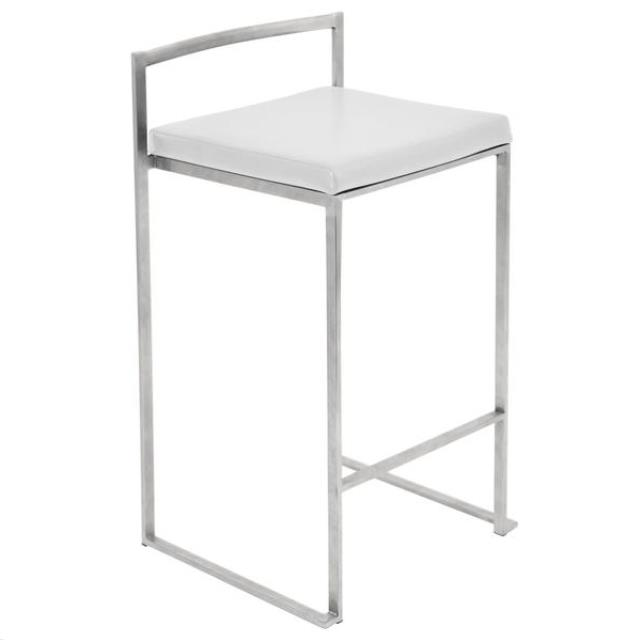 Where to find Bar Stool- Low Back Silver White Cushion in Grand Cayman