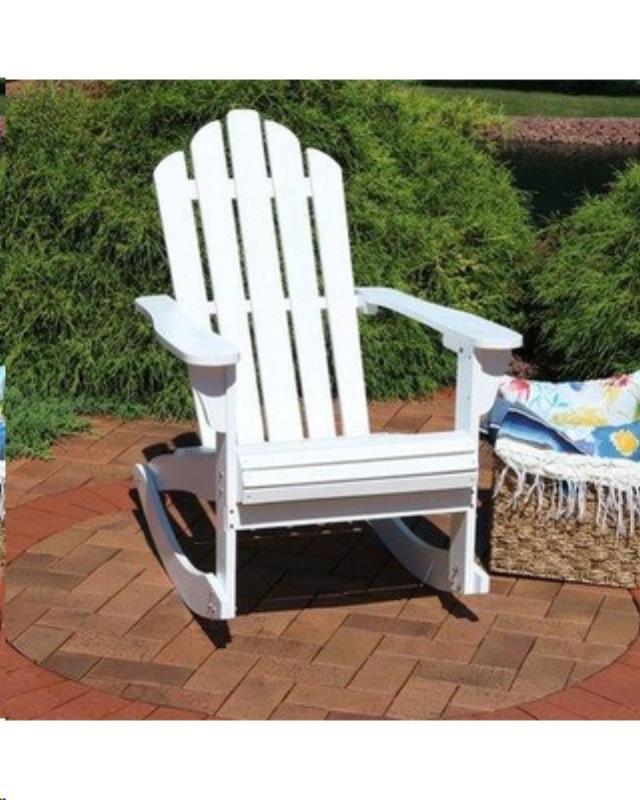 Where to find Outdoor Rocking Chair - White Wood in Grand Cayman