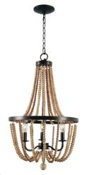 Rental store for Chandelier - Beaded Wood Bronze in Grand Cayman KY